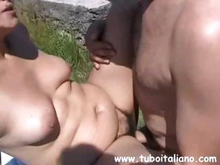chubby european brunette older acquires nailed