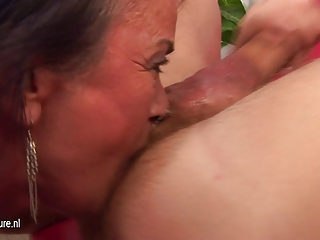 arse worshiping grown-up whore gets a warm cum