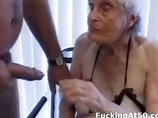 senile wrinkled elderly gives dick sucking and is