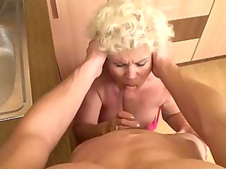 granny obtaining pierced from point of view