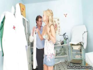 slutty nurse abused a cougar blond lady part6
