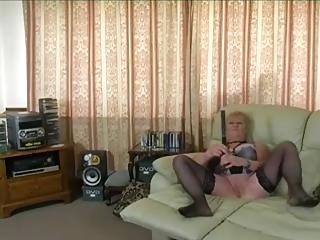 delightful elderly pumping