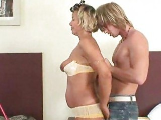 mature babe gang-banged difficult by amateur boy