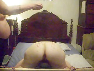 horny amateur housewife lets her hubby light up