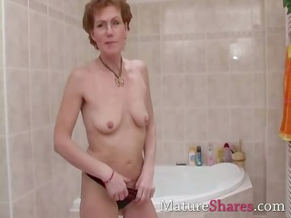 shaggy mature pees and obtains a shower