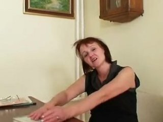 granny fresh woman toying herself on a college
