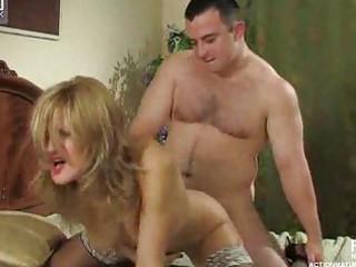 girl inside dark stockings seduces a male
