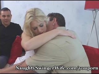 sharing my slutty wifes big tits