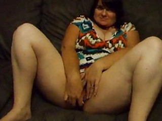 fat woman joanne dildoing and spreading slit