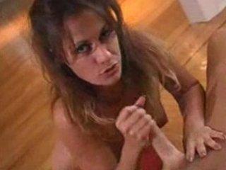 playing woman gives a good handjob