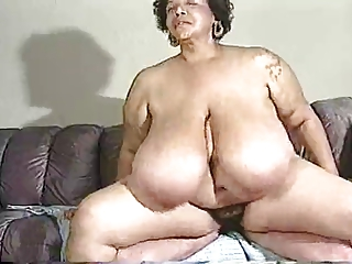 hairy cougar large breast