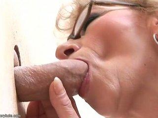 glory hole mature blowjob