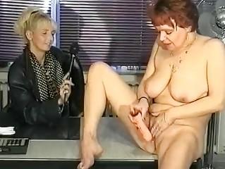 german interviewer helps milf masturbate clip