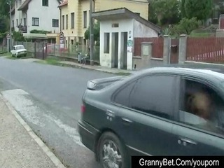 one granny is picked up and drilled by slutty