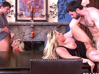 big boob blond woman swing every others husbands