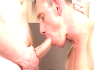 awesome older guy obtains sucked and rimmed by