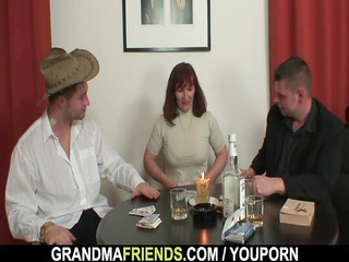 great three duos after poker with elderly