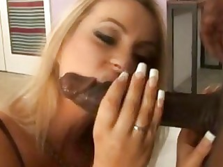 tigth arse pleasing albino woman sucks giant