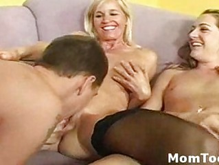 fortunate guy fist fucks busty woman and her