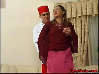 lonely lady seduces her son's fucker and