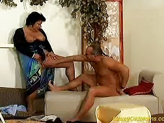 mad granny lady takes uneasy cock