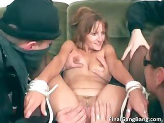 hot awesome thin figure slutty brunette lady part1
