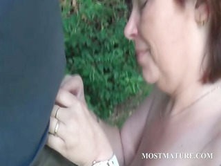 showed mommy blows uneasy pecker outside