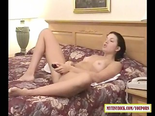 horny lady tasting cock into the hotel home