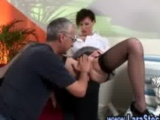 mature lady into stockings plays with herself