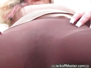 super busty horny bleached mature babe in