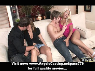 foursome swinger porn gathering with hot bitches