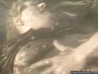 dirty old babe covered with mud obtains part5