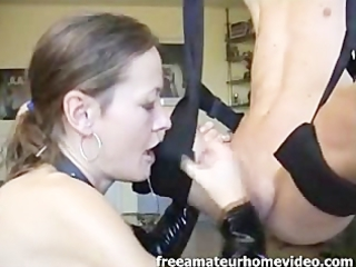 brunette angel woman adores to give dick sucking
