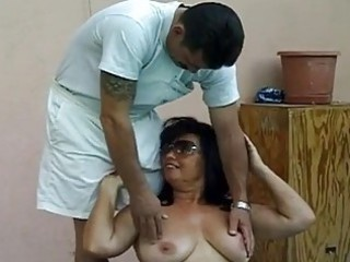 super busty elderly drilled by super penis