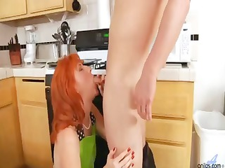 sweet ginger girl with fiery red furry pussy