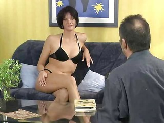 woman models for her man