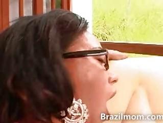 beautiful latin woman riding a huge penis with