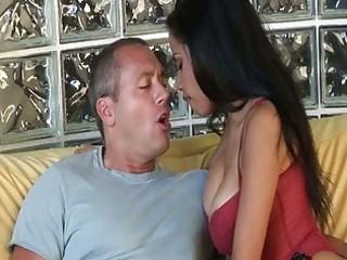 wonderful latina lady eats dick and gets pierced