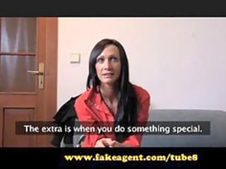 fakeagent pole dancing cougar babe is made for