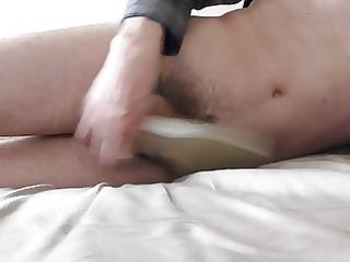 sperm inside wifes white classic pump