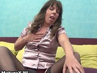 older woman into wonderful dark nylons part6