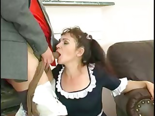 fat ancient maid lillian puts her stockings on