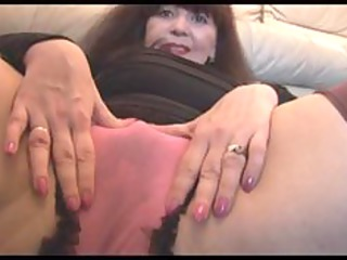 naughty mature with hairy gap plays