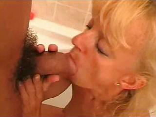 grandmother licks penis