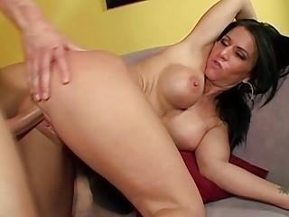 lady gives a sloppy rimjob