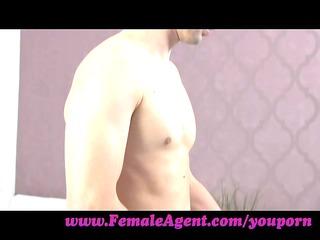 femaleagent. inexperienced lady agent enjoys it