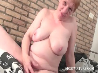 horny ancient fisting her pussy