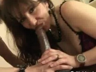 cougar brit femdom interracial cock sucking