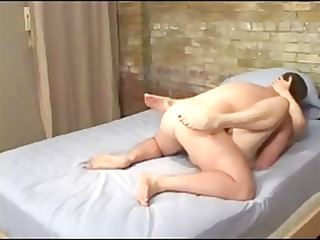 chick likes it inside her shaved ass