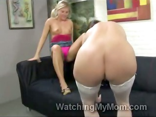 blondie casey cumz helps mommy to take hunky